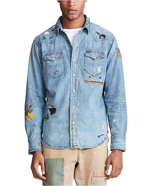 Polo Ralph Lauren Men's Limited-Edition Western Shirt