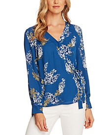 Printed Side-Tie Blouse