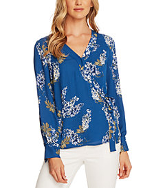 Vince Camuto Printed Side-Tie Blouse