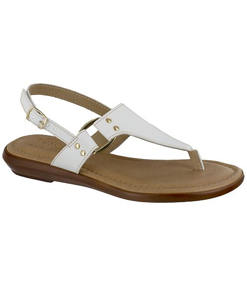 Easy Street Tuscany by Karaleah Slingback Thong Sandals