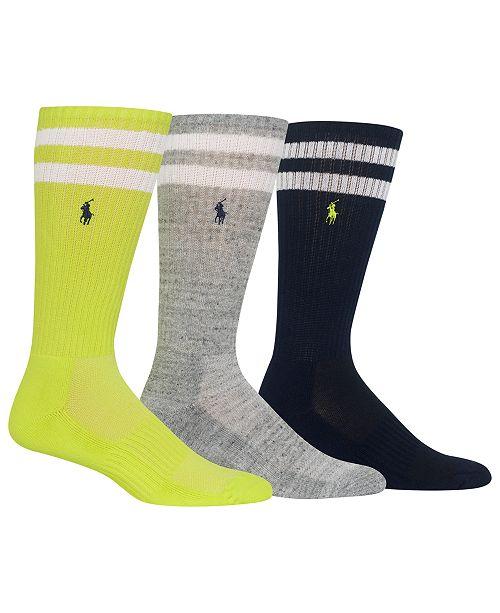 Polo Ralph Lauren Men's 3-Pk. Athletic Crew Socks