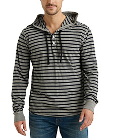 Men's Stripe French Terry Hoodie