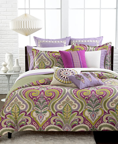 CLOSEOUT! Echo Vineyard Paisley Reversible Bedding Collection, Thread Count 300 100% Cotton
