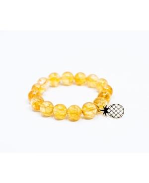 Sunny Citrine Gem Single with Pineapple Accent Bracelet
