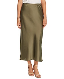 Charmeuse Side-Slit Maxi Skirt