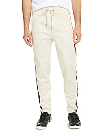 Men's Athletic-Fit Blocked Tape Track Pants