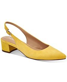 Charrlee Step 'N Flex Block-Heel Slingback Pumps, Created for Macy's