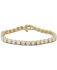 Diamond Tennis Bracelet (6 ct. t.w.) in 10k Gold & White Gold