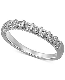 Diamond Bar Band (1/2 ct. t.w.) in 14k White Gold
