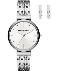 Women's Zoe Stainless Steel Bracelet Watch 36mm Gift Set
