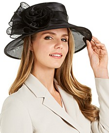 Organza Rosette Dressy Hat