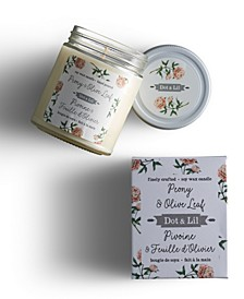 Peony Olive Soy Candle