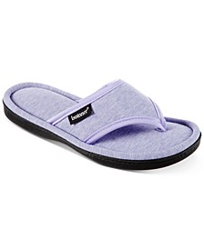 Women's Jersey Cambell Thong Slippers With Memory Foam