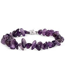 Amethyst Beaded Bracelet (50 ct. t.w.) in Sterling Silver  (Also Available in Aquamarine)