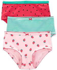 Little Girls 3-Pack Strawberry-Print Underwear