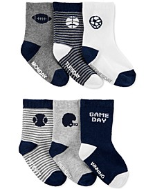 Toddler Boys 6-Pk. Sports Crew Socks