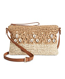 INC Shells & Knots Straw Crossbody, Created for Macy's