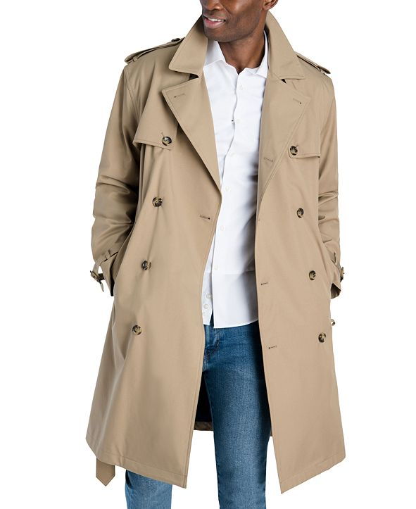 London Fog Men's Classic-Fit Double-Breasted Trenchcoat