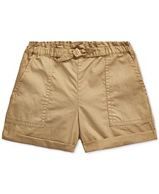 Toddler Girls Cotton Twill Camp Shorts