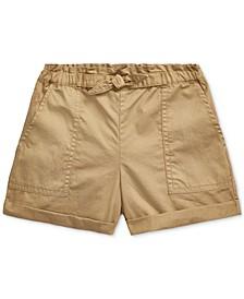 Little Girls Cotton Twill Camp Shorts