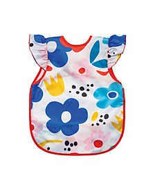 Baby Boys and Girls Modern Floral Apron Bib