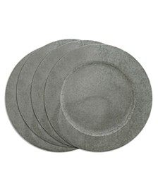 Galvanized Metal Charger Plate Set of 4
