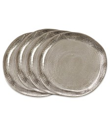 Aluminum Charger Plates Set of 4