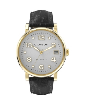 Women's Classic Collection Black Crocodile-Embossed Leather Strap Watch 36mm