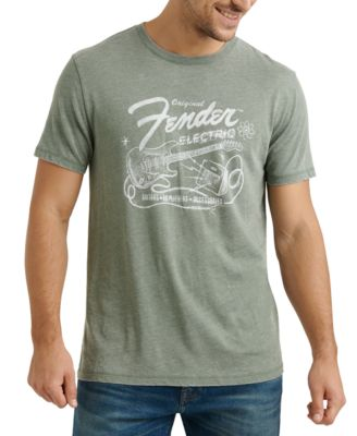 Lucky Brand Mens Fender Graphic T-Shirt