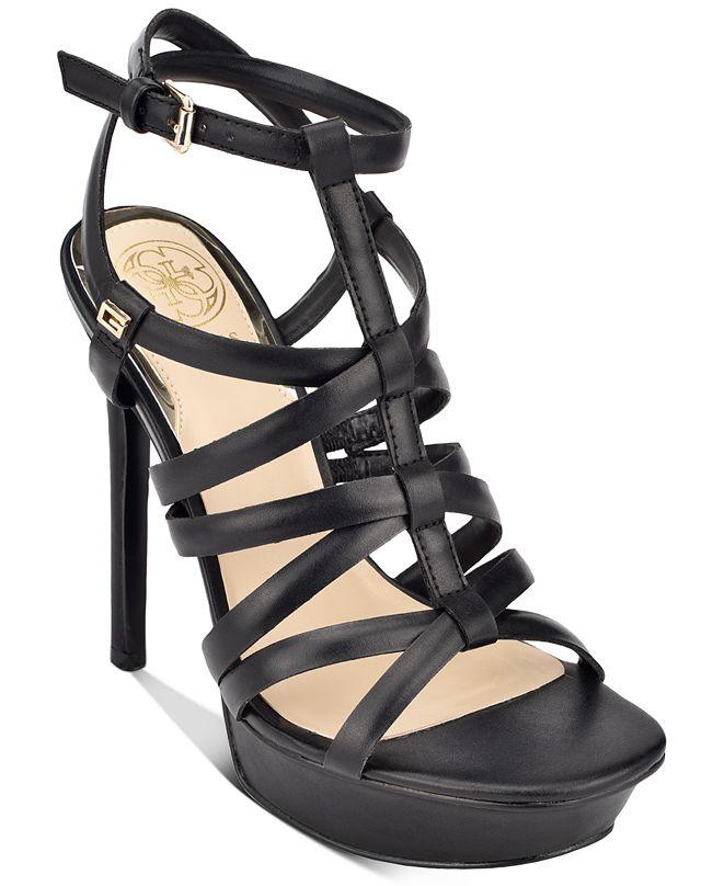 GUESS Women's Eleri Strappy Platform Dress Sandals