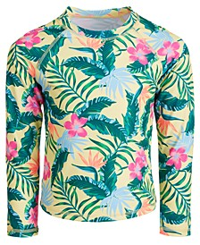 Little Girls Tropical-Print Long-Sleeve Rash Guard