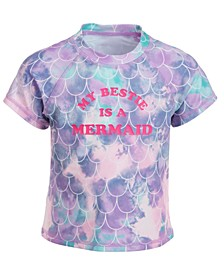 Toddler Girls Mermaid Short-Sleeve Rash Guard