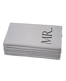 Monogram Mr. & Mrs. 6-Pc. Turkish Cotton Hand Towel Set