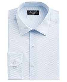 Men's Slim-Fit Performance Stretch Striped Cube Dress Shirt, Created for Macy's