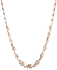 "Pavé Pear-Shape Statement Necklace, 16"" + 3"" extender"