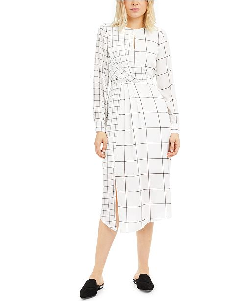Alfani Printed Twist-Front Dress, Created for Macy's