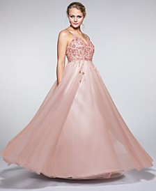 Juniors' Embellished Chiffon Gown, Created For Macy's
