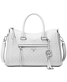 Carine Medium Leather Satchel