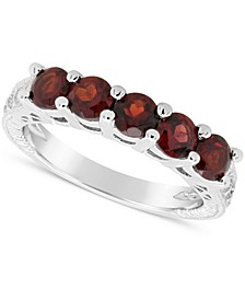 Garnet (1-1/2 ct. t.w.) Ring in Sterling Silver (Also Available in White Topaz and Peridot)
