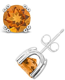 Citrine (2-1/2 ct. t.w.) Stud Earrings in Sterling Silver (Also Available in White Topaz)