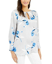 Printed Tie-Neck Tunic, Created for Macy's