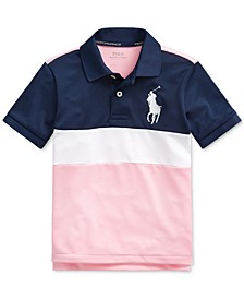 Toddler Boys Performance Stretch Mesh Polo