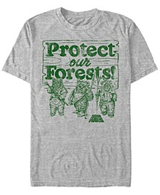 Men's Star Wars Ewoks Protect Our Forests Camp Short Sleeve T-shirt
