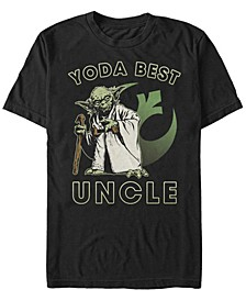 Men's Star Wars Yoda Best Uncle Rebel Logo Short Sleeve T-shirt
