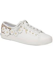 Kickstart Glitter Floral Sneakers