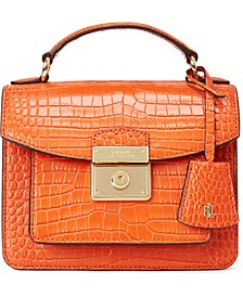 Croc-Embossed Leather Medium Beckett Satchel