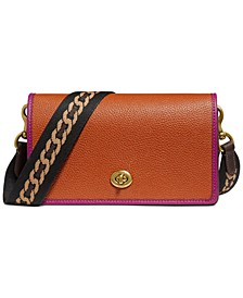 Hayden Leather Crossbody with Webbed Strap
