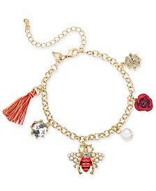 Gold-Tone Multi-Charm Anklet, Created for Macy's