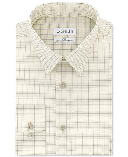 Calvin Klein Calvin Klein Men's Classic-Fit Multi-Check Dress Shirt
