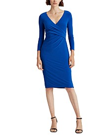 Petite Surplice Jersey Dress
